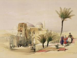 """Church of the Holy Sepulchre, Jerusalem, Plate 11 from Volume I of """"The Holy Land"""" by David Roberts"""
