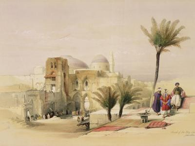 "Church of the Holy Sepulchre, Jerusalem, Plate 11 from Volume I of ""The Holy Land"" by David Roberts"