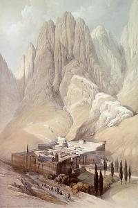 Convent of St.Catherine with Mount Horeb, February 19th 1839, Plate 118 from Volume III of 'The… by David Roberts