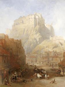 Edinburgh Castle from the Grassmarket, 1837 by David Roberts