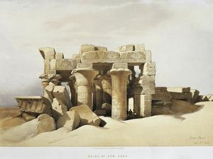 Egypt, the Ruins of the Temple of Kom Ombo Dedicated to Sobek and Horus by David Roberts