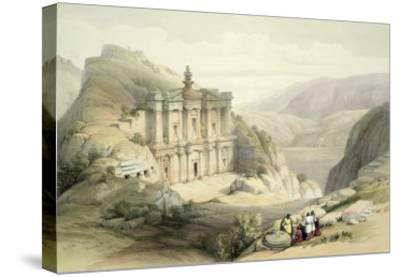 El Deir, Petra, March 8th 1839, Plate 90 from Volume III The Holy Land, Engraved by Louis Haghe