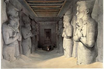 Giant Limestone Statues of Rameses Ii, Temple of Rameses, Abu Simbel, Egypt, 1836 by David Roberts