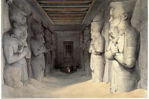 Giant Limestone Statues of Rameses Ii, Temple of Rameses, Abu Simbel, Egypt, 1836 by David Roberts