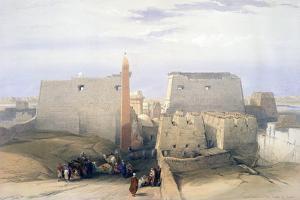 Grand Entrance to the Temple of Luxor, 19th Century by David Roberts