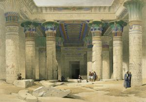 Grand Portico of the Temple of Philae, Nubia by David Roberts