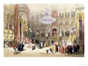 Greek Church of the Holy Sepulchre, Jerusalem, April 11th 1839 by David Roberts