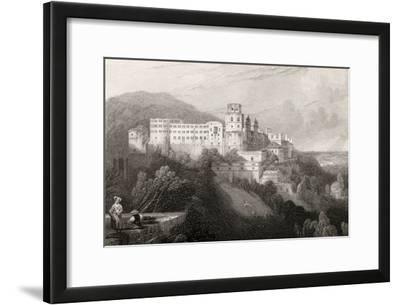Heidleberg Castle, Heidleberg, Engraved by J.T.Willmore in 'The Pilgrims of the Rhine', Published…