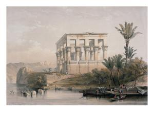Hypaethral Temple at Philae, the Bed of Pharoah by David Roberts