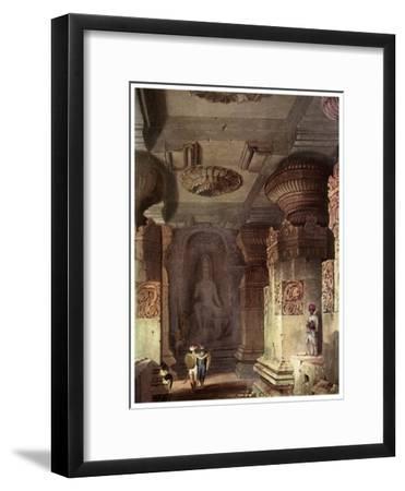 Interior of a Cave Temple, Ellora, Maharashtra, India, 19th Century