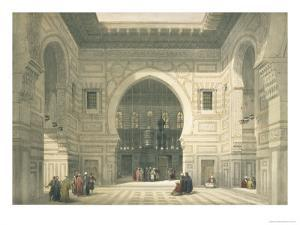 Interior of the Mosque of Sultan Hasan, Cairo, from Egypt and Nubia, Vol.3 by David Roberts