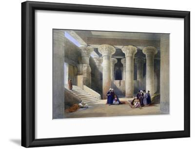 Interior of the Temple at Esna, Upper Egypt, 1838