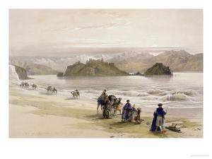 Isle of Graie, Gulf of Akabah, Arabia Petraea, 1839, Plate 108, Vol.III by David Roberts