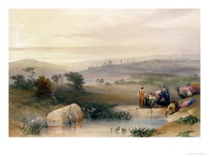 """Jerusalem, April 1839, Plate 22 from Volume I of """"The Holy Land"""", Pub. 1842 by David Roberts"""