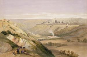 """Jerusalem, April 5th 1839, Plate 18 from Volume I of """"The Holy Land"""" by David Roberts"""