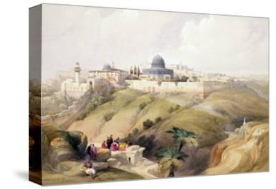 """Jerusalem, April 9th 1839, Plate 16 from Volume I of """"The Holy Land"""""""