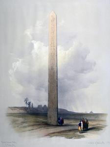 Obelisk of Heliopolis, 1839 by David Roberts