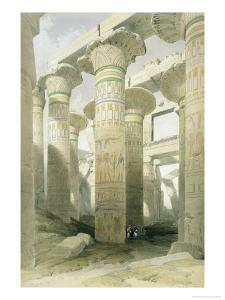 Oblique View of the Hall of Columns, Karnak by David Roberts