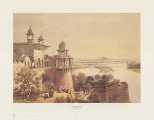 Palace and Fort at Agra by David Roberts