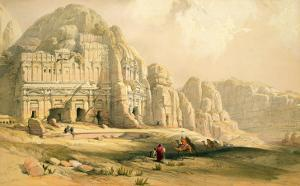 Petra, March 8th 1839, Plate 96 from Volume Iii of 'The Holy Land', Engraved by Louis Haghe by David Roberts