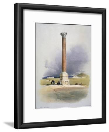 Pompey's Pillar, Alexandria, 19th Century