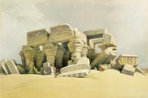 """Ruins of the Temple of Kom Ombo, from """"Egypt and Nubia"""", Vol.1 (Litho) (See also 84718) by David Roberts"""