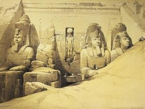 Temple of Abu Simbel, 13th Century Bc, Façade, Egypt, Lithograph, 1838-9 by David Roberts