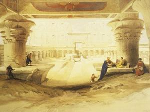 Temple of Edfu, View from the Gate, Lithograph, 1838-9 by David Roberts