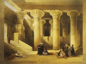Temple of Esna, 2nd Century Bc, Left Bank of the Nile, Egypt, Lithograph, 1838-9 by David Roberts