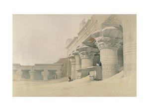 Temple of Horus, Edfu, from 'Egypt and Nubia', Engraved by Louis Haghe (1806-85) by David Roberts