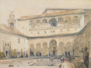 The Court of Myrtles, Alhambra (Or Hall of Myrtles, Alhambra) 1833 by David Roberts
