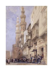 The Gate of Metwaley, Cairo, 1838 by David Roberts