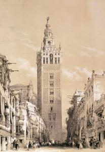The Giralda, Seville, from Picturesque Sketches in Spain, c.1832-33 by David Roberts