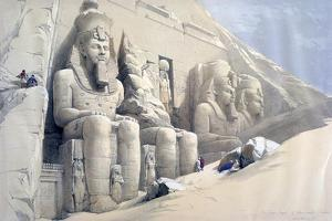 The Great Temple of Abu Simbel, Nubia, C19th Century by David Roberts