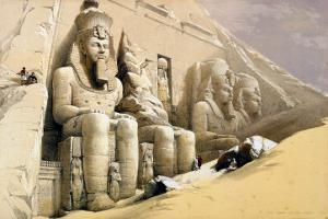 """The Great Temple of Abu Simbel, Nubia, from """"Egypt and Nubia,"""" Vol.1 by David Roberts"""