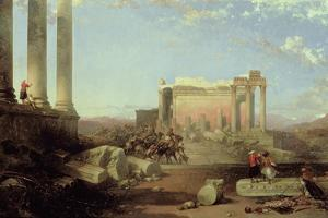 The Ruins of the Temple of the Sun at Baalbec, 1861 by David Roberts
