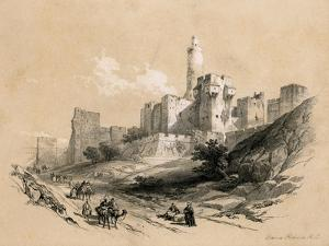 The Tower of David, Jerusalem, Israel, 1855 by David Roberts