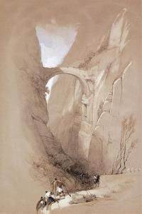 The Triumphal Arch Crossing the Ravine Leading to Petra, 1839 by David Roberts