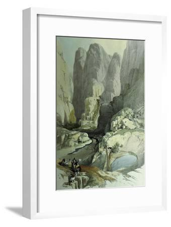 Theatre, Petra, Jordan, at Entrance to City, 1839 Watercolour