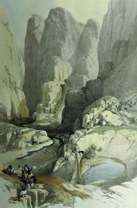 Theatre, Petra, Jordan, at Entrance to City, 1839 Watercolour by David Roberts