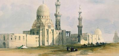 Tomb of Sultan Qansuh Abu Sa'Id, 1499, in the Eastern Cemetery or Tombs of the Caliphs, Cairo by David Roberts