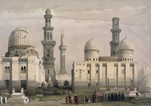 Tombs of the Memlooks, Cairo, with an Arab Funeral by David Roberts