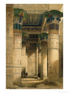 Under the Grand Portico, Philae by David Roberts