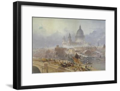 View of Blackfriars Bridge and St Paul's Cathedral, London, 1840