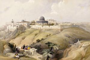 View of Jerusalem, Early 19th Century by David Roberts