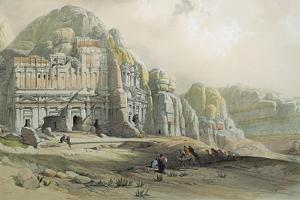 View of the Ruins of Petra, Jordan, 1839 by David Roberts
