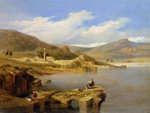 View of Tiberius on the Sea of Galilee by David Roberts