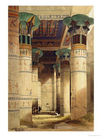 View under the Grand Portico, Philae, from Egypt and Nubia, Vol.1