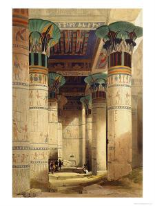 View under the Grand Portico, Philae, from Egypt and Nubia, Vol.1 by David Roberts