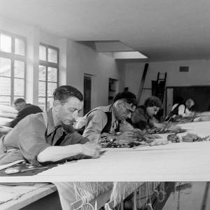 Artists Designing Aubusson Tapestry Weaving in France, 1946 by David Scherman
